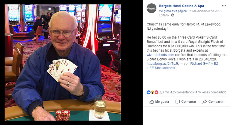 Apuesta cinco dólares al póker y gana un millón