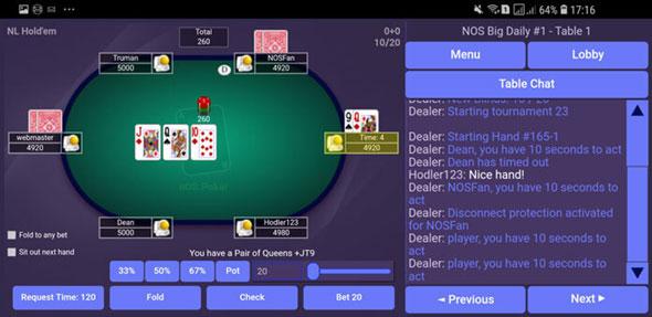 poker online obtiene su primer juego de prueba de lealtad nOS gratuito
