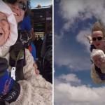Mujer de 102 años rompe record mundial en saltarse con paracaídas