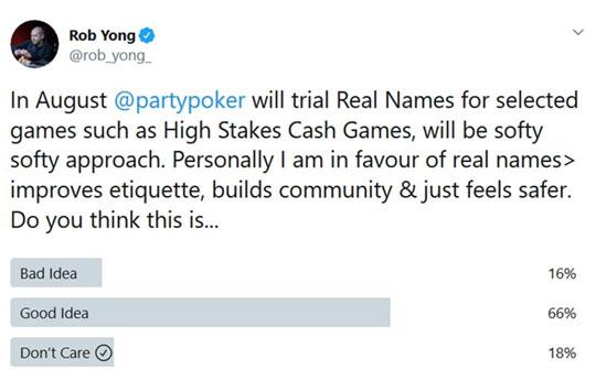High Roller Games en partypoker usará nombres reales
